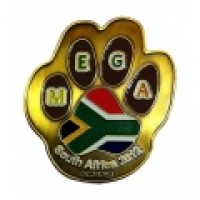 Mega 2012 Geocoin - Antique Gold